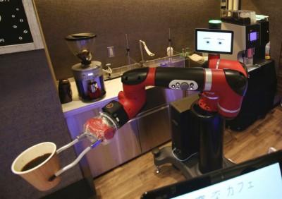 机器人能制作咖啡。