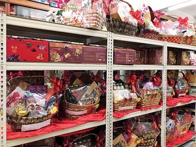 各种各式送礼保健礼篮,任顾客选购。