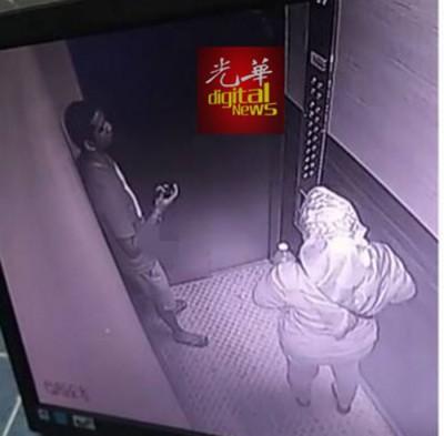 变态男在电梯里手淫,令巫裔女儿饱受惊吓。
