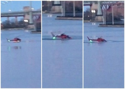 直升机迫降伊斯特河。