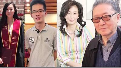 李敖的3名子女,左起小女李谌、儿子李戡及长女李文。