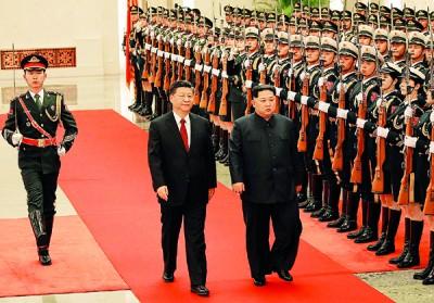 曾是朝鲜「老兄」的中国,去年支持在联合国框架下制裁朝鲜,让中朝关系陷冰点。金正恩此次突然秘密访华令外界意外。(法新社照片)