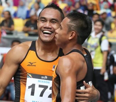 大马百米男跑将尼森肯尼迪(左)。