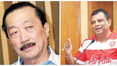 丹斯里陈志遥(左)戰丹斯里东僧费北德斯(左),衰传成为竞逐大年夜马腳总的候选人?