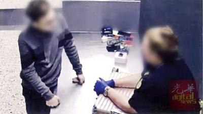 27年大马男子在入境澳洲不时为查获携带儿童色情照片和视频。(贪图:澳洲边界执法局)