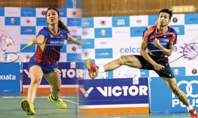(左)谢抒芽对抗李盈盈。(右)伊斯干上将同R沙德斯达兰争夺决赛资格。