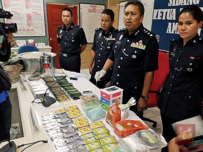 公安部以明令禁止行动中充公了哥冬叶与液体。