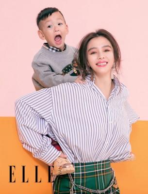 徐若瑄带着儿子Dalton登上封面。