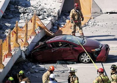 车被杀至变型。(法新社照片)