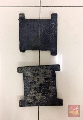 男子涉嫌盗窃两只用来稳定铁路的塑料夹子。