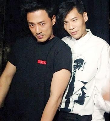 林峰(右)重投兄弟怀抱,与黄宗泽(左起)、吴卓羲及邓智伟再合作。