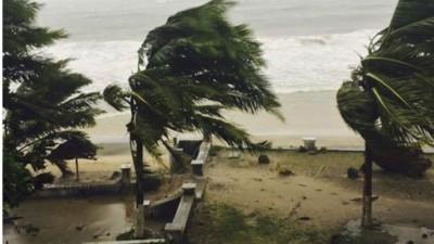 马达加斯加遭受风暴吹袭。