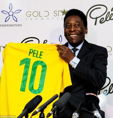 巴西球王比利。