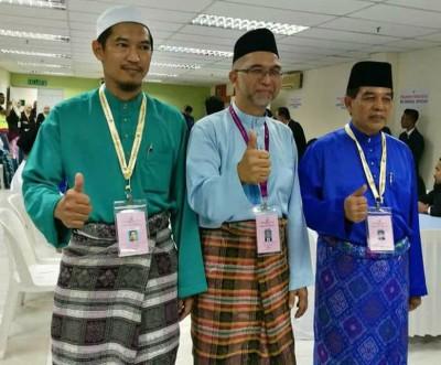 浮罗山背国会议席候选人莫哈末英兰、峇迪亚及希尔米。