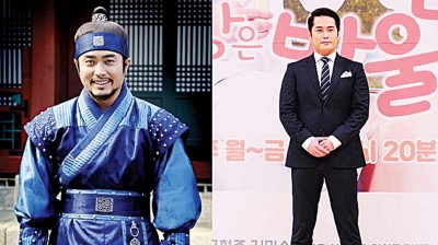 李宗秀以《李祘》的护卫武士(左)走红。