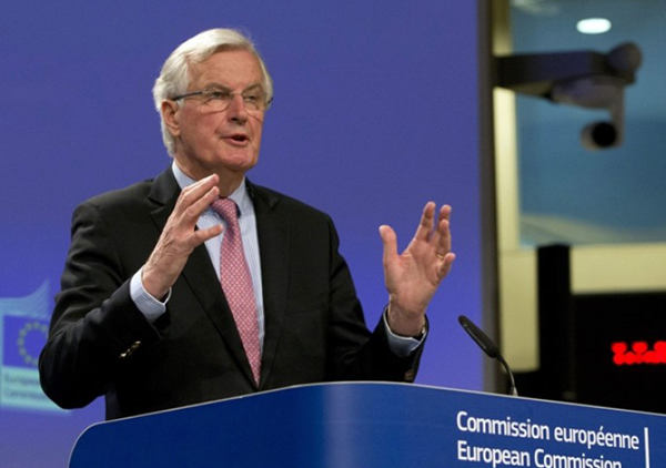 巴尼耶负爱尔兰边界问题,天天令英国脱欧谈判破裂。