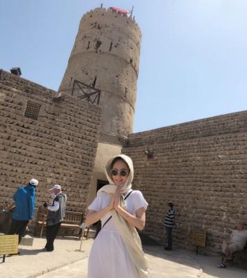 方媛分享杜拜旅行照片。