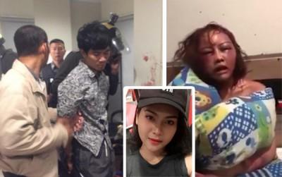 猜查纳已被曼谷警方搜索到并逮捕。女友被打到瘀青肿胀,全身只用枕头遮挡裸露的上身。