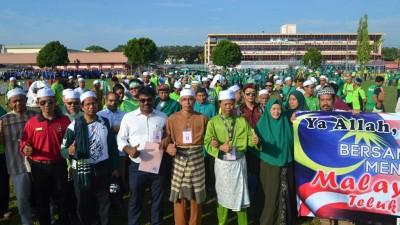 安顺提名,伊斯兰党团队到提名中心。