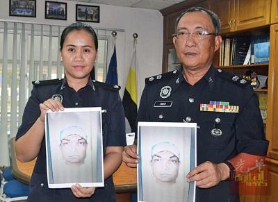 奥玛巴迪亚(右)及查案官弗罗拉,吁请发现嫌犯踪影的民众致电联络警方。
