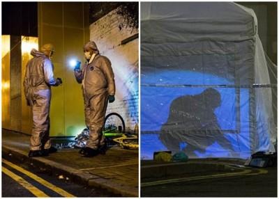 英国持械暴力案趋升,令人关注;图为当地近日一宗刺死人案件的现场。