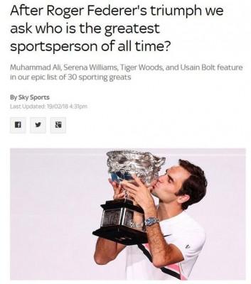 网球天王费德勒。