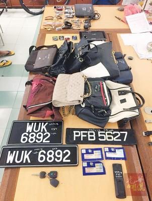 威南警方捣毁专破门行窃的『三菱帮』,取获9万令吉财物。