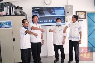 陈诠峰说他当马华峇眼区会等,倒是少对方赴约。左起为沈耀权、许智勇、陈诠峰同林海顺。
