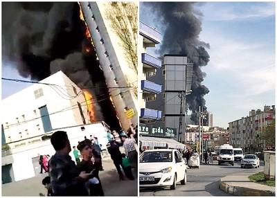 伊斯坦布尔一间医院发生大火。