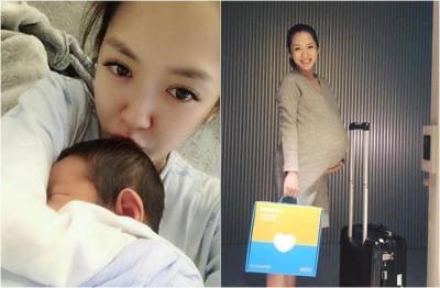 杨千霈上月生下一致女。