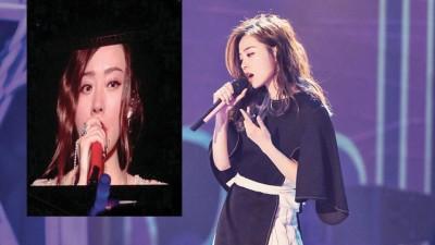 """张靓颖最近于演唱会上晾晒""""右耳间歇性失聪""""。"""