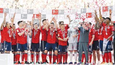 拜仁为获得德甲六连冠感到兴奋。