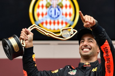 红牛车队澳洲车手里卡多在摩纳哥站夺标,拿到个人本赛季第2个冠,也是个人职业生涯的第7个冠。