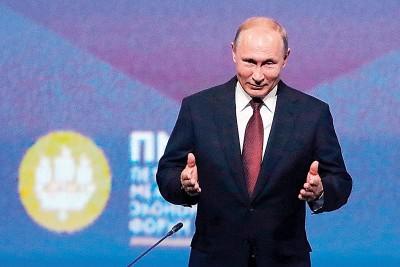 普京代表不会谋求第三只部任期。(法新社照片)