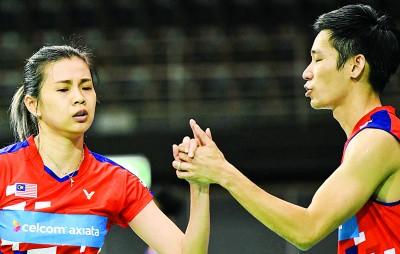 陈炳顺/吴柳莹成功闯入澳羽决赛。