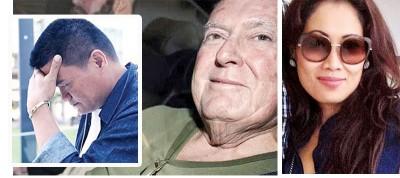 68岁富商查尔顿教唆菲籍男友阿吉拉尔(左图)杀妻遭拒。(右图)竟查尔顿的亚裔妻子诺维遭一枪毙命。