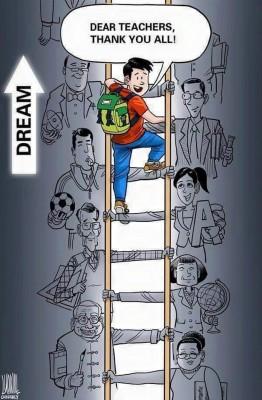 教师是扶助孩子成长的影响者。