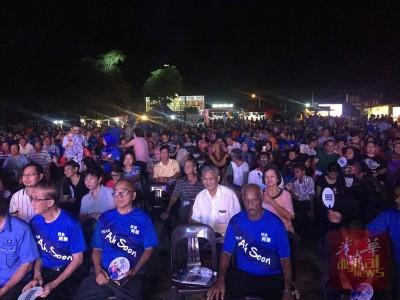 国阵芙蓉与亚沙国席选前最后造势大会,逾300支持者到场支持。