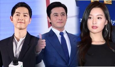 (左)宋仲基、(右)金智媛传出将合作新戏《阿斯达编年史》。(中)张东健有望与宋仲基合作。