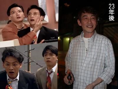 港星吴启明当年以《大时代》走红(小图),离开演艺圈销声匿迹23年后,身影再度被捕获(右图)。