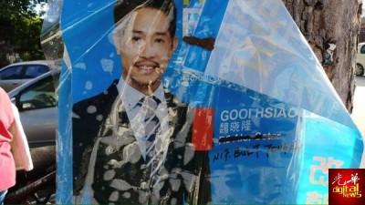 希联候选人魏晓隆澄清,市面上出现的海报是支持者早前挂上,并非官方海报。