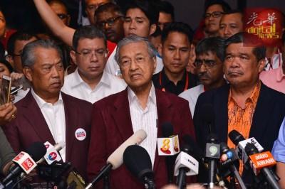 马哈迪宣布希联掌控6州政权。
