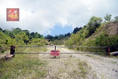 位于甘密山一带的山区外观。