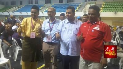 浮罗1国3州全属希望联盟天下。(左起)阿斯洛、峇迪亚、莫哈末托及朱基菲里。