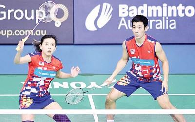 在澳洲赛坐亚望冠的陈炳顺/吴柳莹开始重拾信心。
