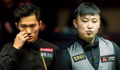中华名将曹宇鹏(左)跟于德陆(右)为涉嫌打假球被世界台协禁赛。