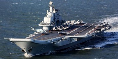 辽宁号航母早前穿越台湾海峡。