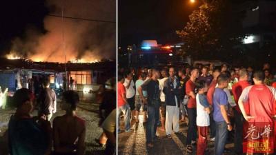 火魔叩访联青花园住宅区,烧毁4间住家。
