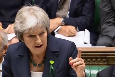 特丽莎梅获得下议院支持,否决上议院对脱欧草案提出的修改建议。(法新社照片)