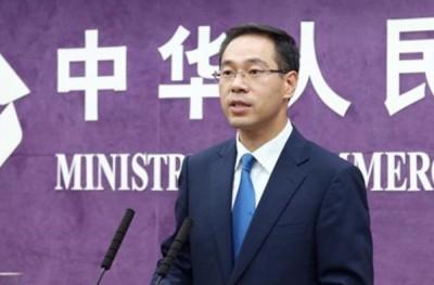 华商务部发言人高峰一连两天,就美国拟限制外国企业投资敏感科技作出回应。